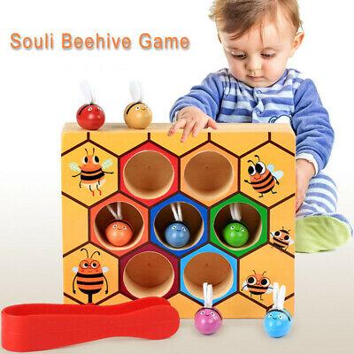Children Montessori Educational Toys Preschool Wooden Bee