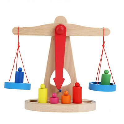Educational Toy Small Wooden Balance Scale Toy With 6x