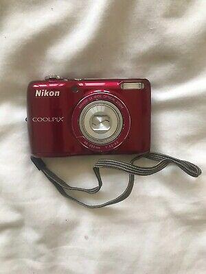 Nikon COOLPIX LMP Digital Camera - Red - With Case!