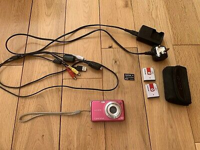 Pink Sony Cyber Shot DSC-W220 Digital Camera And Accessories