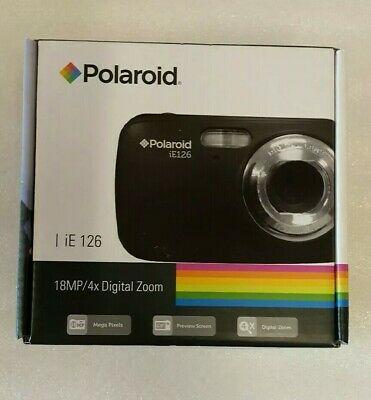 "Polaroid iE MP Compact Digital Camera Black 1.8"" NEW"