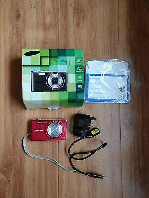 Samsung PL211 Compact Digital Camera - Red