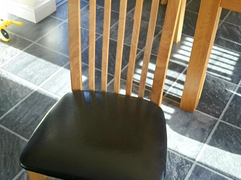 Solid Oak Dining Chairs Set of Four