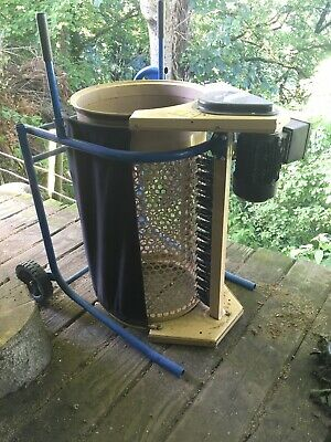 Used Scheppach RS350 compact electric garden rotary sieve,