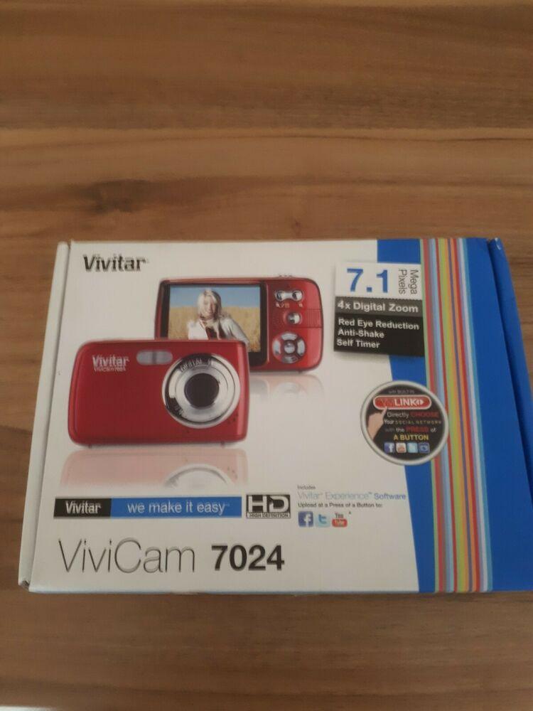 Vivitar ViviCam MP Digital Camera - Red