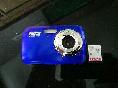 Vivitar ViviCam TMP Digital Camera - blue with 8gb