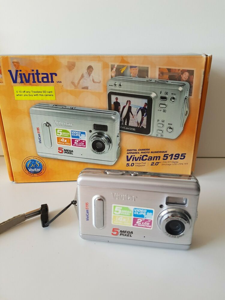 Vivitar Vivicam MP Compact Digital Camera Silver