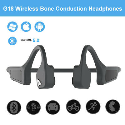 Stereo Bone Conduction Earphone Blue-tooth 5.0 Sports