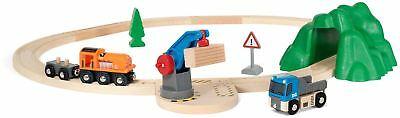 Brio STARTER LIFT & LOAD SET A Wooden Toy Train BN