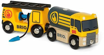 Brio TANKER TRUCK WITH HOSE WAGON Wooden Toy Train BN