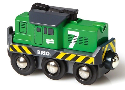 Brio Wooden Railway Trains Battery Operated Freight Engine 1