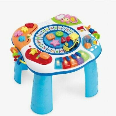 Kids Toddler Baby Train and Piano Activity Table,