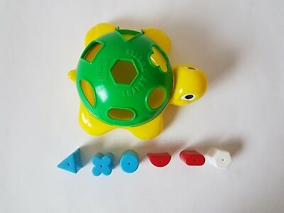 Playskool Shapey Turtle 7 shape sorter age 12 months and