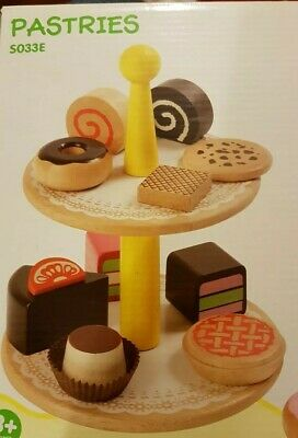 Voila Wooden Pretend and Play Voila Wooden Cake Stand Toy
