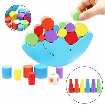 Wooden Montessori Moon Toy Blocks Kids Baby Toys Educational