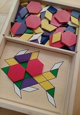 Wooden Tangram Geometry Puzzle Game Educational