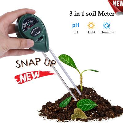 3 in1 Soil Tester Meter for Garden Lawn Plant Pot MOISTURE