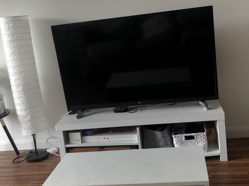 A set of BUSH TV, TV table, and coffee table for sell