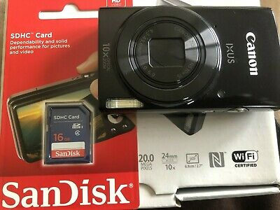 Canon IXUS 190 DIGITAL CAMERA BLACK -With FREE Sandisk 16GB
