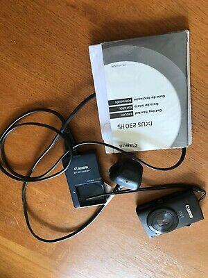 Canon IXUS 230 HS 12.1MP Digital Camera - Black