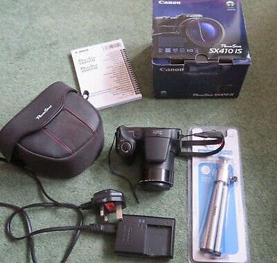 Canon PowerShot SX410 IS 20MP 40x Zoom Black Digital Camera