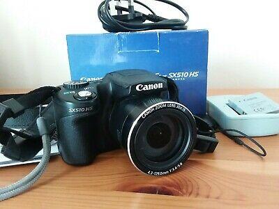 Canon PowerShot SX510 HS 12.1MP Digital Camera - Black
