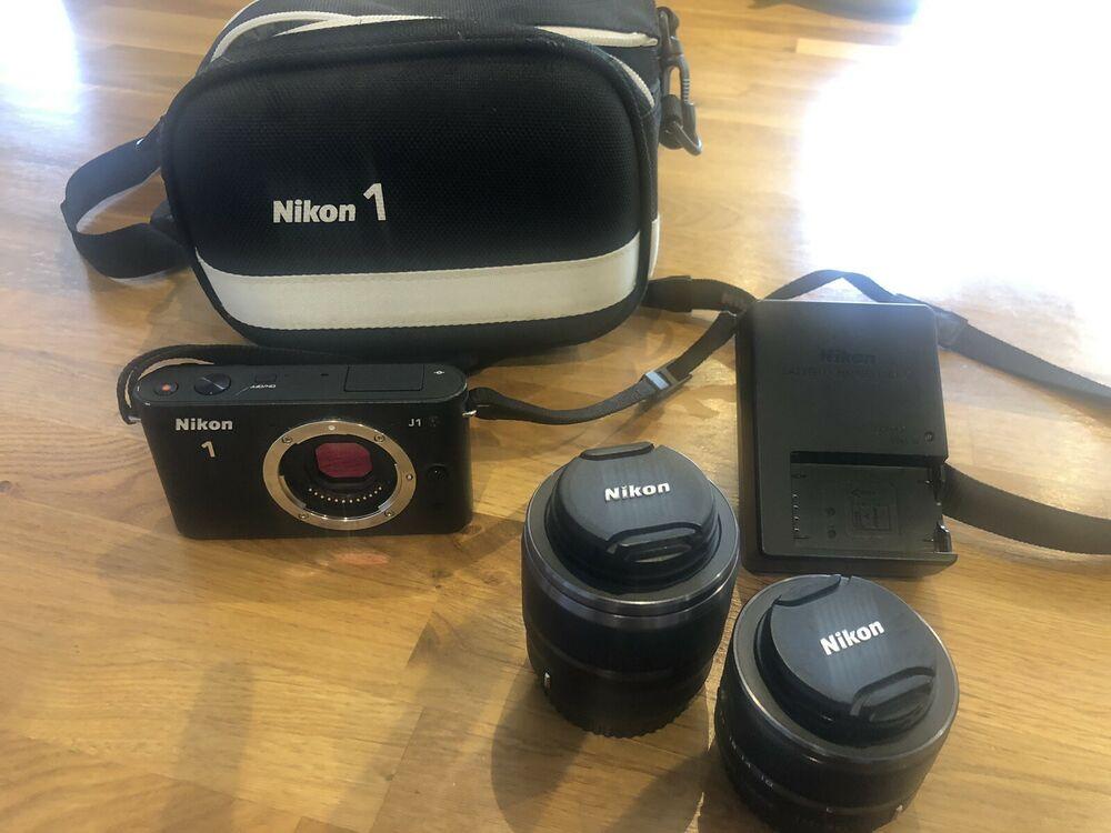 Nikon 1 JMP Digital Camera - Black with 2 Lenses and