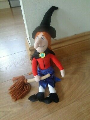 """Room on the Broom Witch with Broom Plush Soft Toy 15.5"""""""