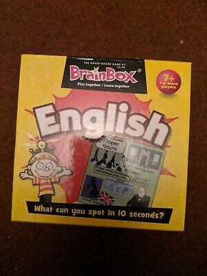 English BrainBox Memory Game - Children's Literacy Brain Box