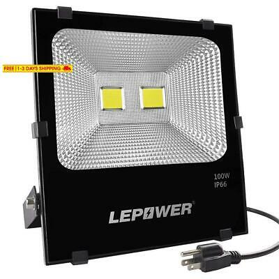 Lepower New Craft 100W Led Flood Light, Super Bright Outdoor