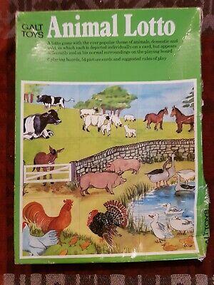 Vintage Galt Toys Animal LOTTO Game Educational Matching