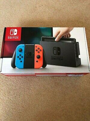 BRAND NEW SEALED Nintendo Switch Console 32GB Neon Joy Con