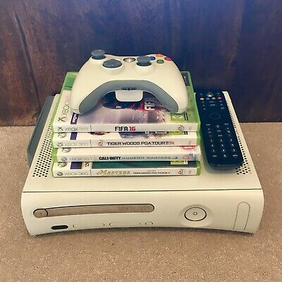 Microsoft Xbox 360 White Console - 60GB HDD - 4x Games - 1x