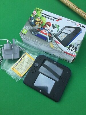Nintendo 2DS Black & Blue Console with Mario Kart 7 Boxed.