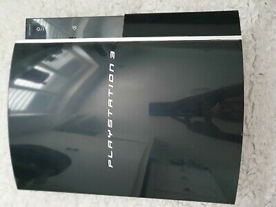 Sony PlayStation 3 80GB Piano Black Console and controller.