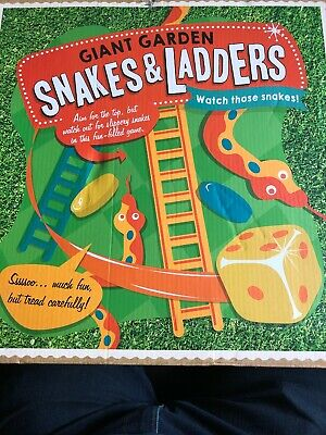 Giant Snakes and Ladders Mat with Counters Family