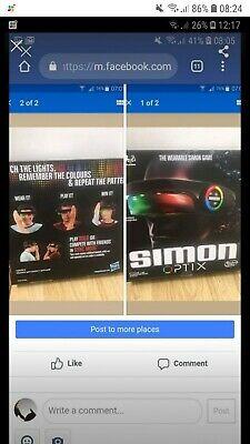 New Simon Optix Electronic Memory Game Lights & Sounds