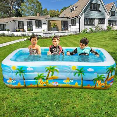 IBASETOY Kids Children Garden 8.5FT Paddling Swimming Pool