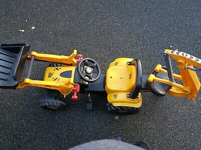 Rolly Toys JCB Tractor with Loader and Excavator Ride On.