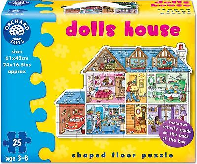 Orchard Toys DOLLS HOUSE Kids/Childrens Giant 25 Piece Floor