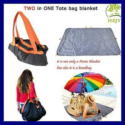 Waterproof Outdoor Blanket & Tote Bag Compact Picnic