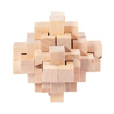 WoodPuzzle Brain Teaser Toy Games for Adults / Kids L7P2 V03