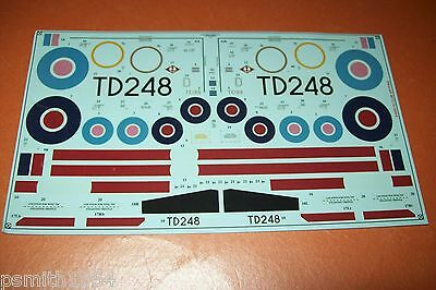 AIRFIX CLUB SPITFIRE XVIe  scale decals with