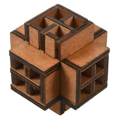 2X(3D Wooden WindowLock Burr Puzzle Brain Teaser Puzzles
