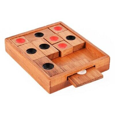 2X(Wooden Sliding Block Puzzle.Handmad e Wooden Puzzles,A