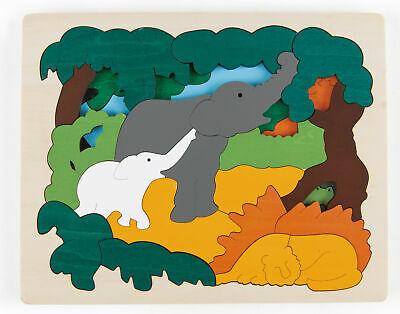E HAPE George Luck Asian Animals Jigsaw 31 Pieces Wooden