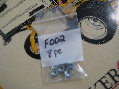 Genuine OEM Walker Part # F002 Keps Nut. 8-pk. Factory part.