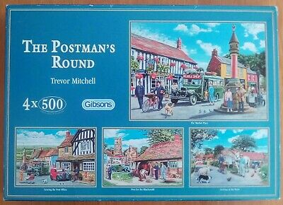 """Gibsons Jigsaw Puzzle """"The Postman's Round"""" (4 x 500 pieces)"""