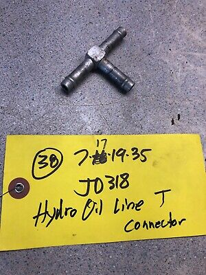 John Deere  Tractor Hydraulic Oil Line T Connector