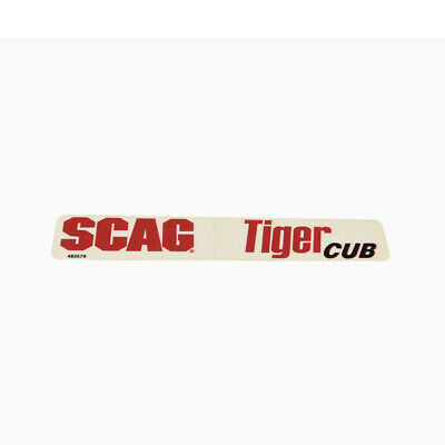 "Scag Tiger Cub Decal Scag "" Tiger Cub Velocity"